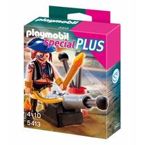 Educando Playmobil Pirata Con Cañon 5413 Nene Dramatización