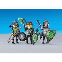 Playmobil Knights 3 Caballeros Lobo Soldado Medieval