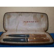Lote De Pluma Parker 61 Y Lapiz Parker 61 Con Caja Parker 51