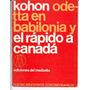 Gregorio Kohon Odetta En Babilonia Y.. Ed. Del Mediodía