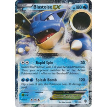 Cartas Pokemon Blastoise Ex Holo Foil Mint