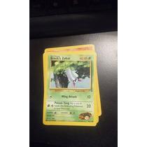 Cartas Pokemon Brock`s Zubat Gym Heroes 74/132 Mint