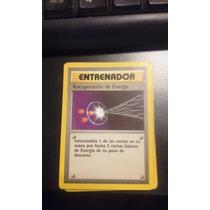 Cartas Pokemon Recuperación De Energía Base Set 81/102 Mint