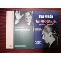 Conducción Política Perón - Mi Mensaje Eva Perón (2 Libros)