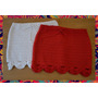 Pollera Tejido Crochet Hilo De Algodon