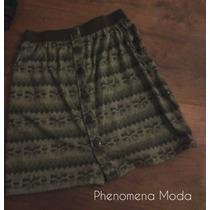 Phenomena Moda - Pollera Cintura Alta Invierno