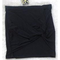 Pollera Minifalda Materia Modelo Quina Talle: S Negro Vestir