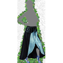 Falda - Pollera Irregular Cintura Elastizada Fiesta Raso