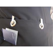 Pollera Falda Diseño Unico - Negra C Hebilla Plateada Nueva