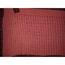 Hermosa Pollera Corta Crochet Pareo Con Boton De Madera