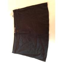 Mini Kosiuko Gamuzada Con Tachas Color Negro Talle S