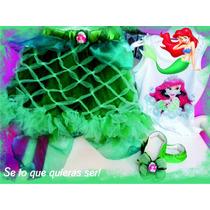 Conjunto Tutu+ballerina+remera De La Sirenita