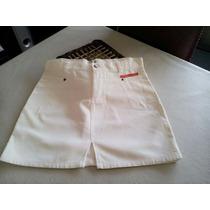 Minifalda Blanca Talle S En Corderoy De Verano Y Línea A