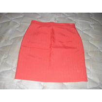 Pollera Mini Talle 2 Color Coral De Ultima Moda