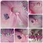 Tutu Y Vincha Cumpleaños Disfraz Rosa Con Colores