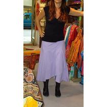 Falda Azul O Violeta Pollera Regulable Verano Ropa Comoda