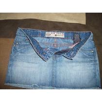 Mini De Jeans Kosiuko Talle Xs Azul