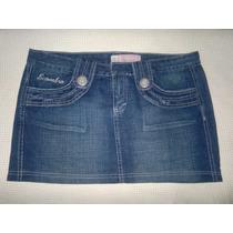 Pollera Mini De Jeans Scombro 100% Original- Como Nueva!