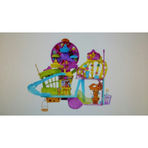 Polly Pocket Wall Party Set Completo Con Rueda Y Tobogan