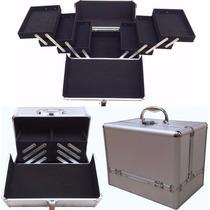 Maletin Profesional Aluminio Porta Maquillajes 6 Bandejas