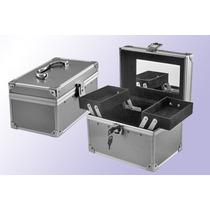 Maletin Aluminio Porta Cosmetico Alhajero 2 Bandejas Forrado