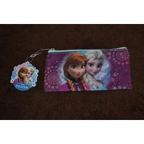Cartuchera Plana Neceser Frozen Original Disney Importada