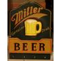 Cuadro Madera Porta Carta Y Llaves Cerveza Miller