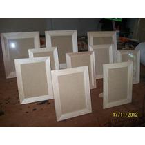Portarretratos 10x15 En Madera Natural Marco 3cm X 12u