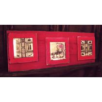 Cuadros Rusticos Vintage Pintados Madera X 3