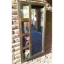 Portarretrato Multiple Con Espejo Cuadro Para Fotos Deco
