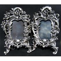 Hist.cal*-hay 2 Portarretratos Rococó-angel-baño Plata-envío