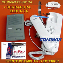 Kit Portero Commax Dp-201-ra + Cerradura Eléctrica Oferta!
