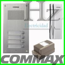 Kit Portero Commax 2 Internos Frente 2um + 2 Tel Ss + Fuente