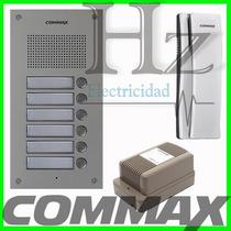 Kit Portero Commax 5 Internos Frente 6um + 5 Tel Ss + Fuente