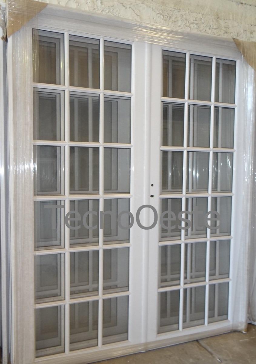 Puertas de aluminio y vidrio imagui for Puertas dobles de madera exterior