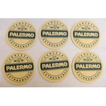 Colección - 6 Posa Vasos De Cerveza Palermo (quilmes)