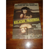 Afiche De Cine Relacion Prohibida Ricardo Suñez Mara Kano
