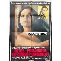 Afiche Actos Prohibidos De Amor Y Venganza Mastroianni 1978