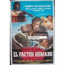 Afiche El Factor Humano V2 George Kennedy, John Mills 1975
