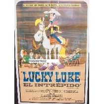 Afiche De Pelicula Infantil Lucky Luke, El Intrépido 1971