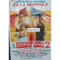 Afiche Retroceder Nunca, Rendirse Jamás 2 Loren Avedon 1988
