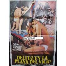 Afiche Delito En La Playa Del Vicio Patricia Adriani 1977