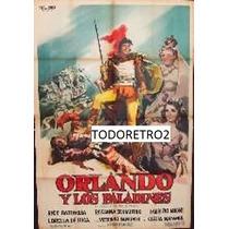 Afiche Orlando Y Los Paladines - Rik Battaglia Buzzanca 1956