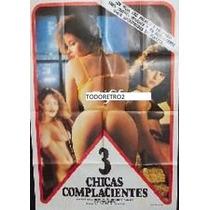 Afiche Tres Chicas Complacientes Yves Collignon Carliez 1974