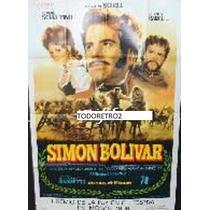 Afiche Simón Bolívar Maximilian Schell, Rosanna Schiaff 1969