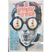 Afiche El Profesor Erótico Osvaldo Pacheco, Beatriz Bon 1976