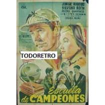Afiche De Cine Escuela De Campeones Con Georges Rigaud 1950