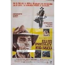 Afiche De Cine Original Río Seco Elvis Presley 1969