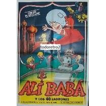 Afiche Dibujo Animado Ali Baba Y Los 40 Ladrones 1971
