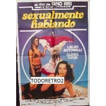 Afiche Sexualmente Hablando - Laura Antonelli - 1982